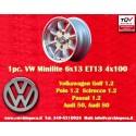 1 pz. llanta Volkswagen Minilite 6x13 ET13 4x100