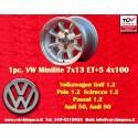 1 Stk Felge Volkswagen Minilite 7x13 ET+5 4x100