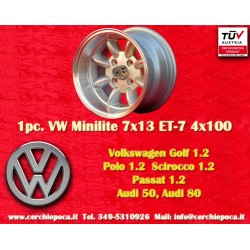 1 pc. Volkswagen Minilite 7x13 ET-7 4x100 wheel