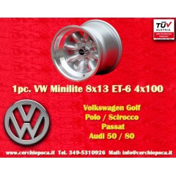 1 pc.  Volkswagen Minilite 8x13 ET-6 4x100 wheel