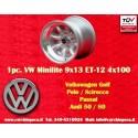 1 pc. Volkswagen Minilite 9x13 ET-12 4x100 wheel