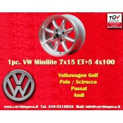 1 pc. Volkswagen Minilite 7x15 ET+5 4x100 wheel