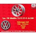 1 pz. llanta Volkswagen Minilite 7x15 ET+5 4x100
