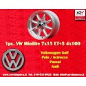 1 Stk. Felge BMW/Opel/Volkswagen Minilite 7x15 ET+5 4x100