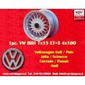 1 pz. llanta BBS Volkswagen  7x15 ET24 4x100