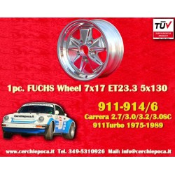 1 pc. cerchio Porsche 911 Fuchs 7x17 ET23.3 5x130 polished