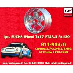 1 pz. llanta Porsche 911 Fuchs 7x17 ET23.3 5x130 polished
