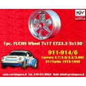 1 pc. Porsche 911 Fuchs 7x17 ET23.3 5x130 wheel polished