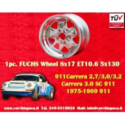 1 pc. Porsche 911 Fuchs 8x17 ET10.6 5x130 wheel polished