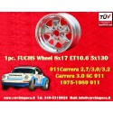 1 pc. Jante Porsche 911 Fuchs 8x17 ET10.6 5x130 polished
