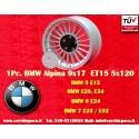 1 pz. llanta Alpina 9x17 ET15 para coches de BMW PCD 5x120