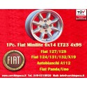 1 pc. Fiat Minilite 6x14 ET23 4x98 wheel