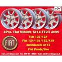 4 Stk. Felgen Minilite Fiat 6x14 ET23 4x98