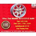 1 Stk. Felge Minilite Fiat 6x13 ET13 4x98