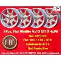 4 pz. llantas Fiat 6x13 ET13 4x98