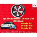 1 pc. cerchio Porsche 911 Fuchs 6x15 Deep Six ET36 5x130 IROC Look