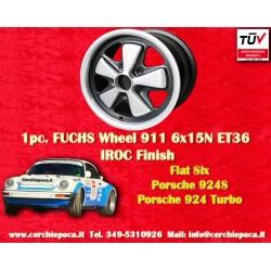 1 pc. cerchio Porsche 911 Fuchs RS 6x15 ET36 5x130  IROC Look