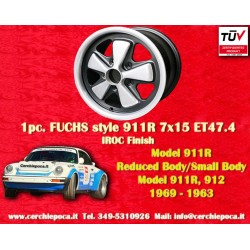 1 pc. Fuchs Porsche 911R Small Body 7x15 ET47.4 wheel Deep Six IROC Look