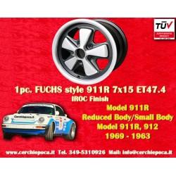 1 pc. jante Fuchs Porsche 911R Small Body 7x15 ET47.4 Deep Six IROC Look