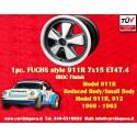 1 pz. llanta Fuchs Porsche 911R Small Body 7x15 ET47.4 Deep Six IROC Look