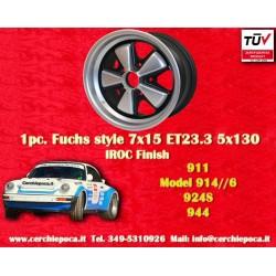 1 pc. cerchio Porsche 911 Fuchs 7x15 ET23.3 5x130 IROC Look