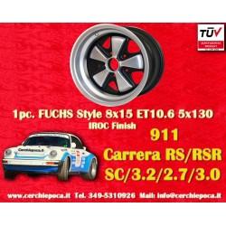 1 Stk. Felge Porsche 911 Fuchs 8x15 ET10.6 5x130 IROC Look