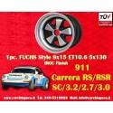 1 pc. Porsche 911 Fuchs 8x15 ET10.6 5x130 wheel IROC Look
