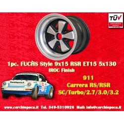 1 pc. cerchio Porsche 911 Fuchs 9x15 ET15 5x130 IROC Look