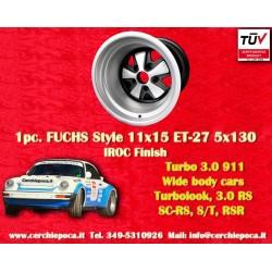 1 pz. llanta Porsche 911 11x15R ET-27 5x130 IROC Look