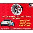 1 pc. cerchio Porsche 911 11x15R ET-27 5x130 IROC Look
