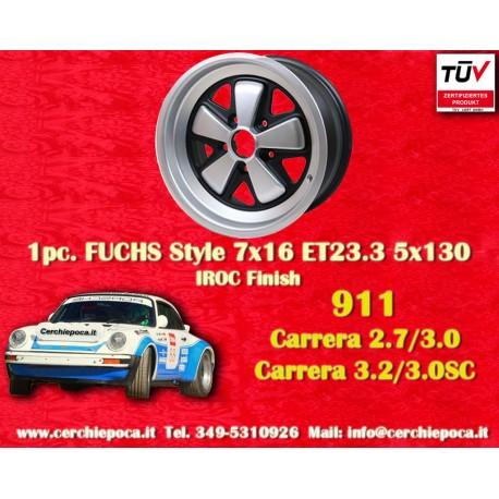 1 pz. llanta Porsche 911 Fuchs 7x16 ET23.3 5x130 IROC Look