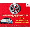 1 pc. cerchio Porsche 911 Fuchs 7x16 ET23.3 5x130 IROC Look
