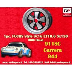 1 Stk. Felge Porsche 911 Fuchs 8x16 ET10.6 5x130 IROC Look