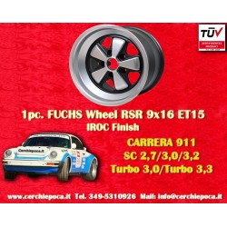 1 pc. cerchio Porsche 911 Fuchs 9x16 ET15 5x130 IROC Look
