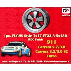 1 pz. llanta Porsche 911 Fuchs 7x17 ET23.3 5x130 IROC Look