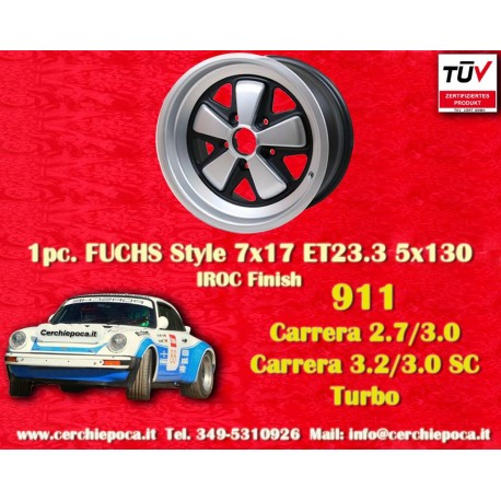 1 pc. Porsche 911 Fuchs 7x17 ET23.3 5x130 wheel IROC Look