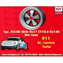 1 pz. llanta orsche 911 Fuchs 8x17 ET10.6 5x130 IROC Look