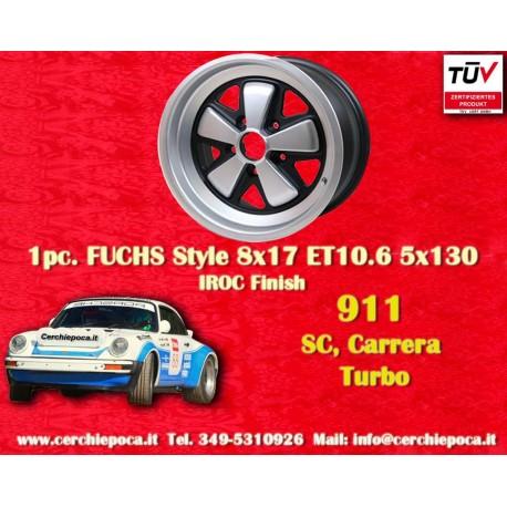 1 pc. cerchio Porsche 911 Fuchs 8x17 ET10.6 5x130 IROC Look