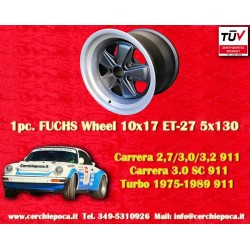 1 pc. Jante Porsche 911 Fuchs 10x17 ET-27 5x130