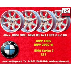 4 pcs. BMW Minilite 6x14 ET13 4x100 wheels