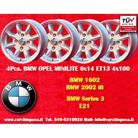 4 pcs. BMW Minilite 6x14 ET13 4x100 wheels