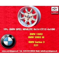 1 Stk. Felge BMW Minilite 6x14 ET13 4x100