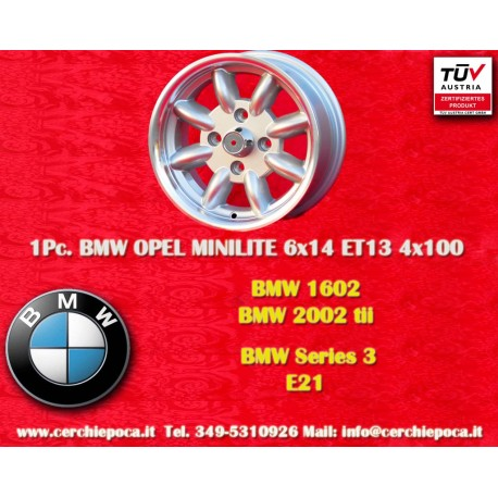 1  pcs. BMW Minilite 6x14 ET13 4x100 wheels
