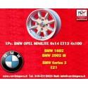 4 pc. jante BMW Minilite 6x14 ET13 4x100