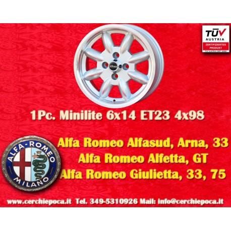 4 pcs. Alfa Romeo Minilite 6x14 ET23 4x98 wheels