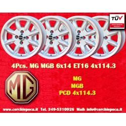 4 pcs. jantes MG MGB 6x14 4x114.3 ET16