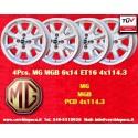 4 pcs. cerchi MG MGB 6x14 ET16 4x114.3
