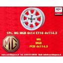1 pc. jante MG MGB 6x14 4x114.3 ET16