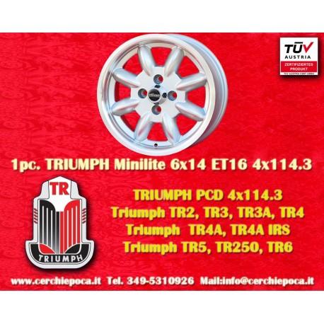1 pc. Triumph Minilite 5.5x15 ET15 4x114.3 wheel