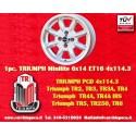 1 pz. llanta Triumph Minilite 6x14 ET16  4x114.3